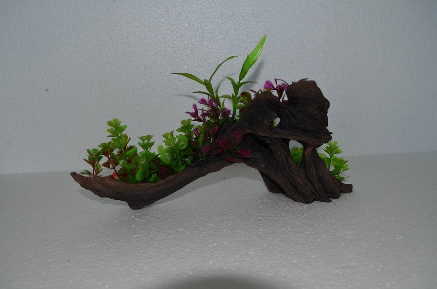 Pflanze auf Holz klein MPS