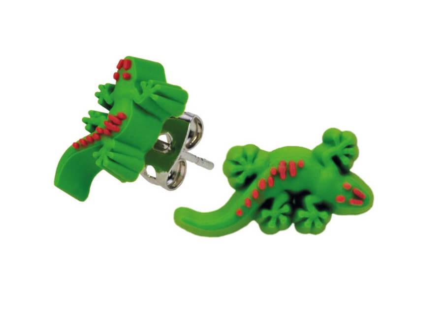 BB Ohrstecker aus Weichgummi Gecko