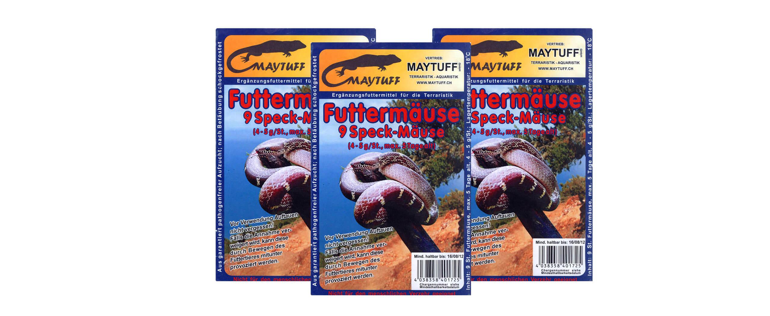 Reptilienfutter im Blister