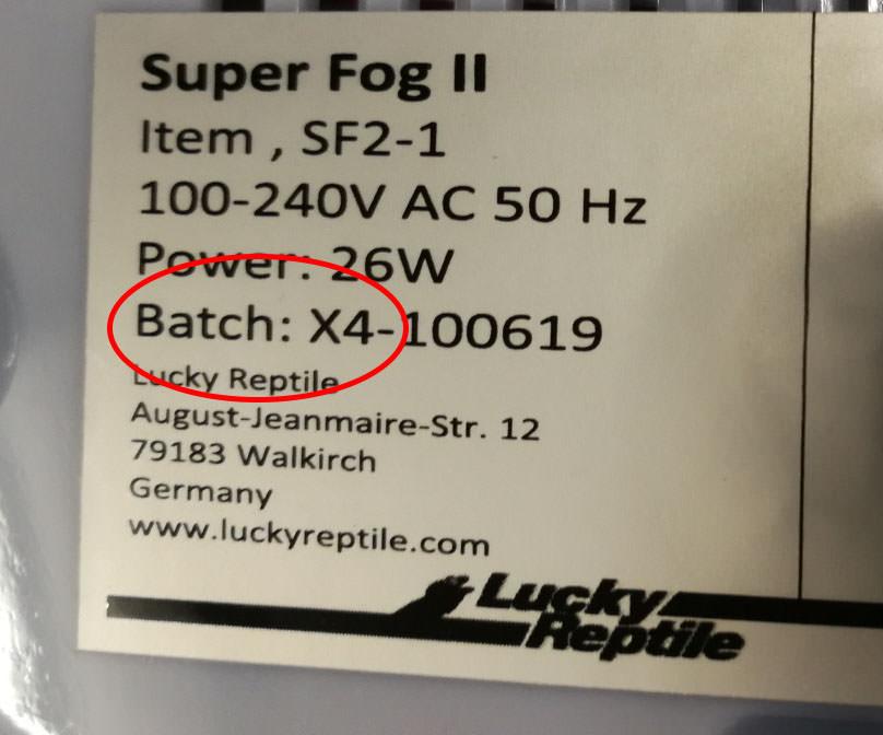 Ersatzmembran zu Super Fog II