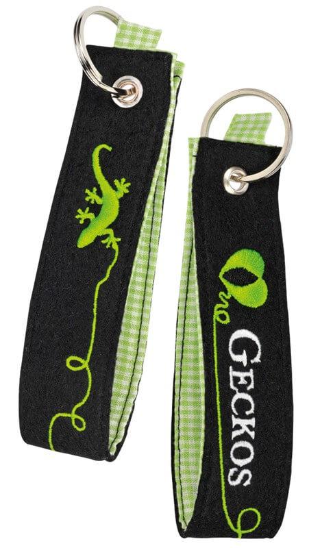Filzschlüsselanhänger Geckos