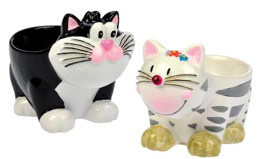 Eierbecher Katzen