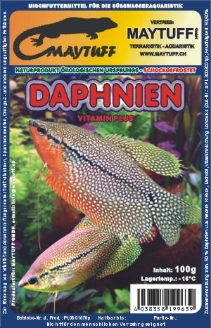 Blister Daphnien - Zucht 100 g