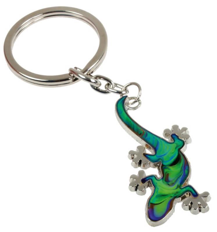 Stimmungsschlüsselanhänger Gecko