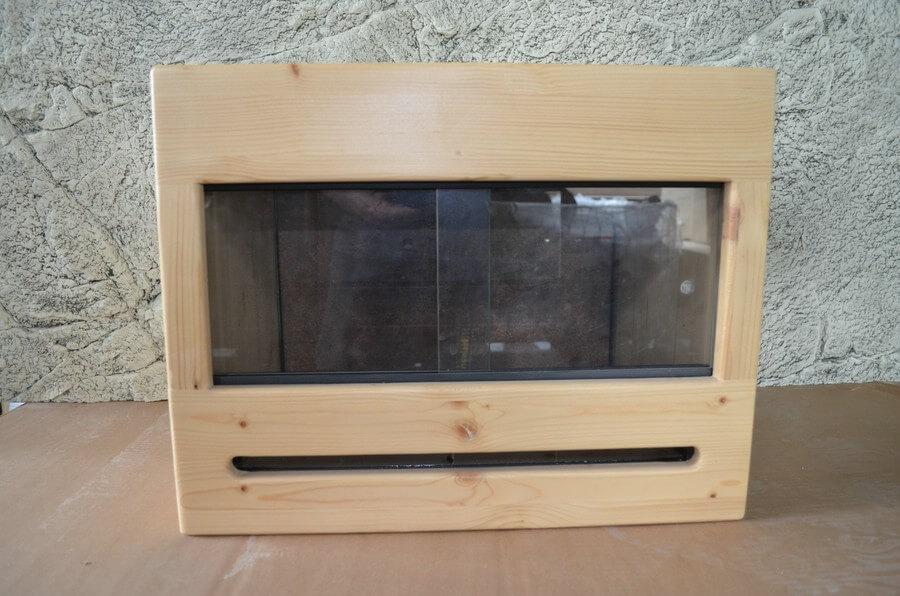 Holz-Terrarium mit Glaseinsatz