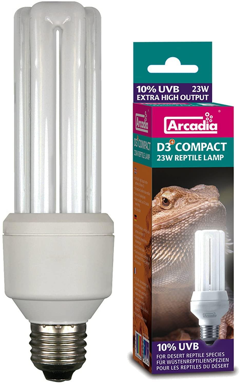 D3+ Compact Reptile Lamp 23 Watt