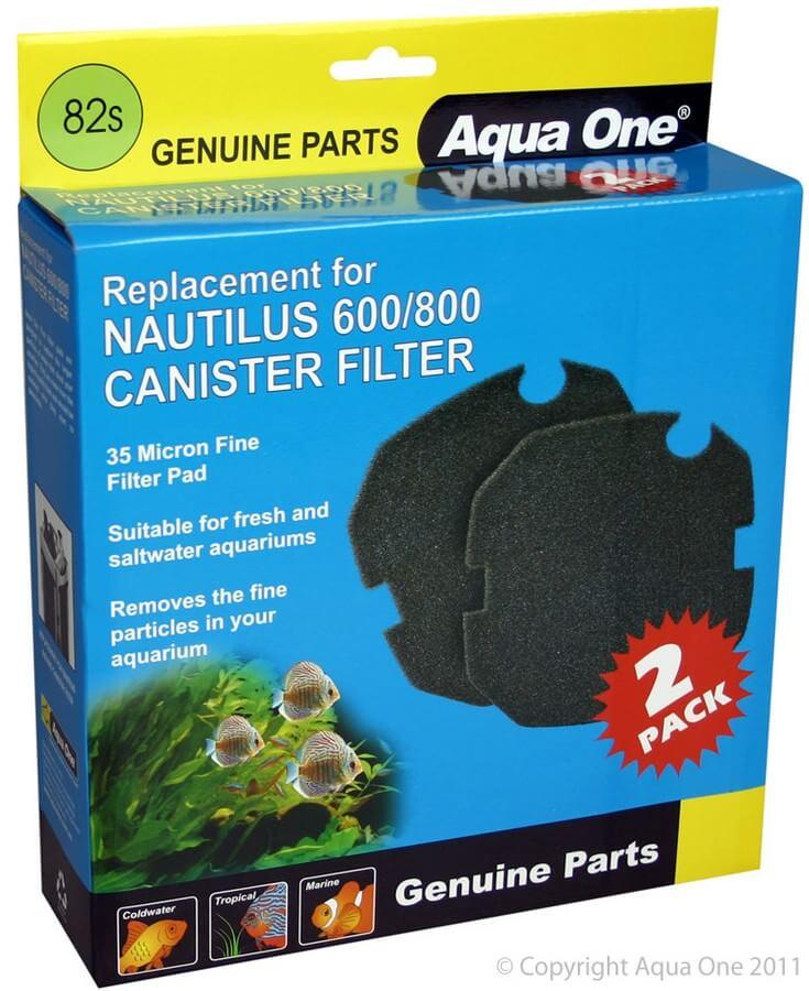 MPS Filterschwamm Schwarz, für Filter Nautilus 600 / 800