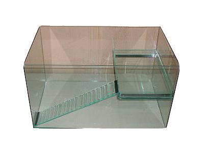 Glasbecken für Wasserschildkröten