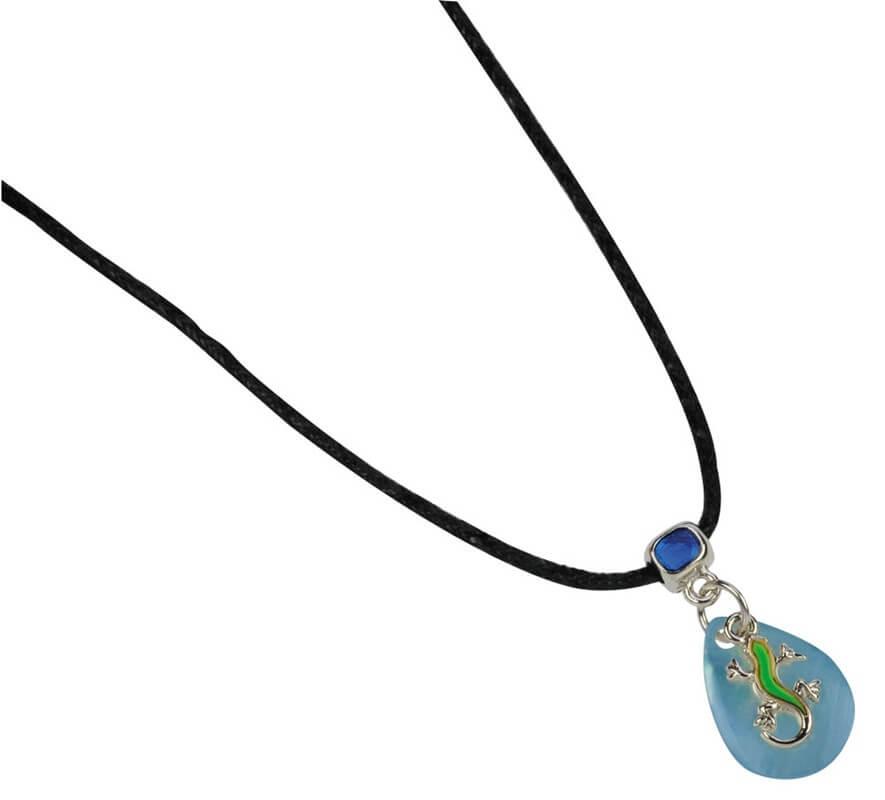 BB UV-Stimmungshalskette Gecko, blau