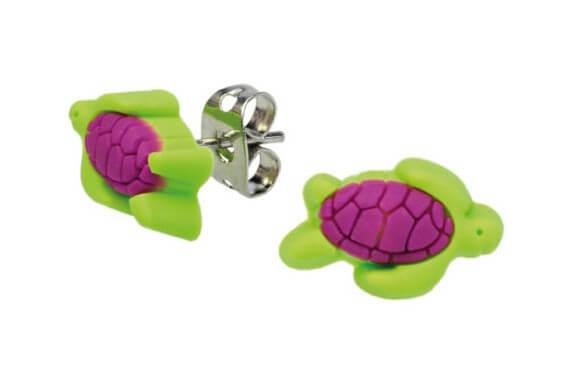 BB Ohrstecker aus Weichgummi Schildkröte