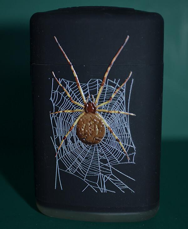 Sturmfeuerzeug Spinne braun