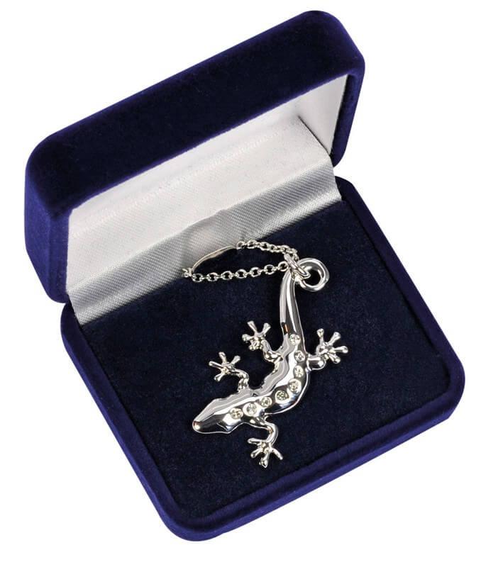 BB Halskette Gecko, mit acht Steinen