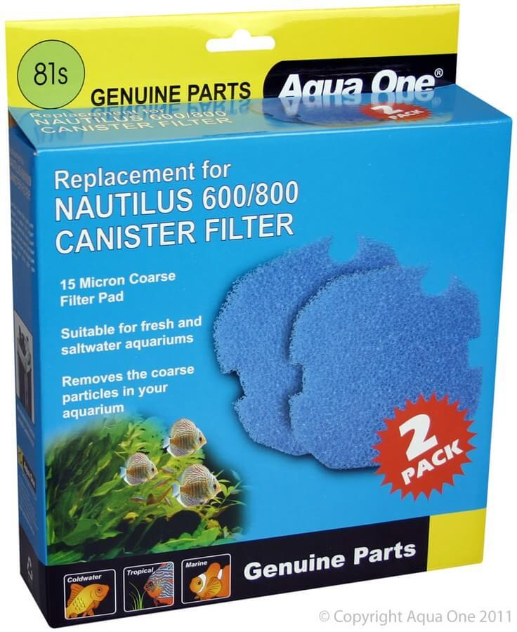 MPS Filterschwamm Blau, für Filter Nautilus 600 / 800